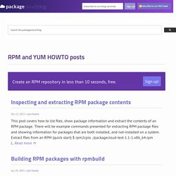 RPM and YUM HOWTO posts - Packagecloud Blog