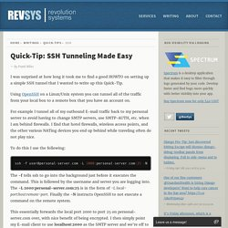 HOWTO: SSH Tunneling Made Easy