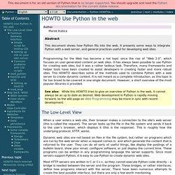 HOWTO Use Python in the web — Python v2.7.5 documentation