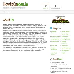 HowtoGarden.ie - About us