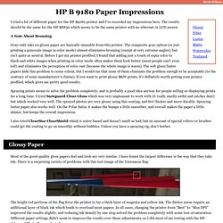 HP B9180 Paper Impressions