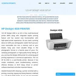 HP Deskjet 4530 Setup & Install