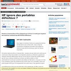 HP ignore des portables défecteux ?