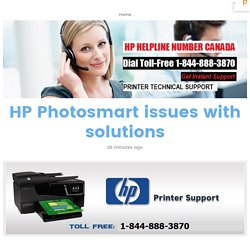 HP Photosmart issues with solutions