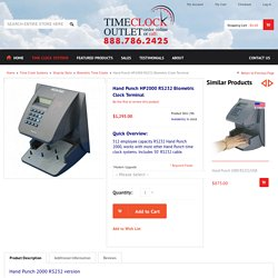Hand Punch HP2000 Biometric Clock Terminal
