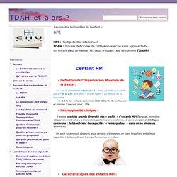 """Site de l'équipe du CHU de Nîmes """"HPI-TDAH et alors ?"""""""