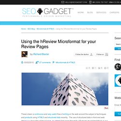 Using the hReview Microformat for your Review Pages