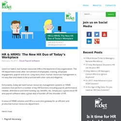 HR & HRMS: The New Hit Duo of Today's Workplace