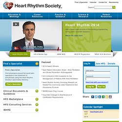 HRS Online, home of the Heart Rhythm Society