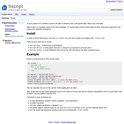 hscript - Scripting Engine for haXe