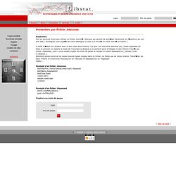 htaccess protection de son site par mot de passe