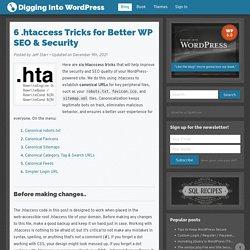 6 .htaccess Tricks for Better WordPress SEO & Security