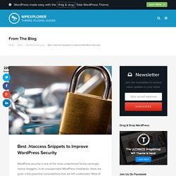 Best .htaccess Snippets to Improve WordPress Security