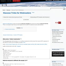 htaccess Tutorial for Apache Webmasters