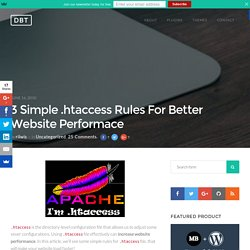 3 Simple .htaccess Rules For Better Website Performace