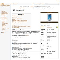 HTC BlueAngel - XDA-Developers