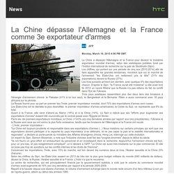 Chine, 3eme exportateur mondial d'armes