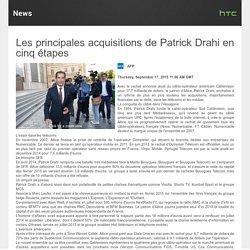 Les principales acquisitions de Patrick Drahi