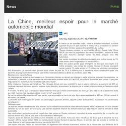 La Chine : meilleur espoir pour le marché automobile mondial