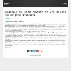 Amende de 774 M$ pour Rabobank