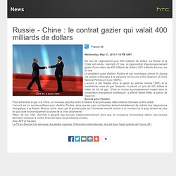 Russie-Chine: le contrat à 400 Mds $