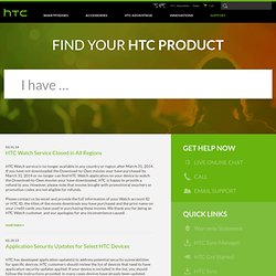 Smartphones and Tablets - Support for HTC Cell Phones and Tablets