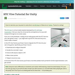 HTC Vive Tutorial for Unity