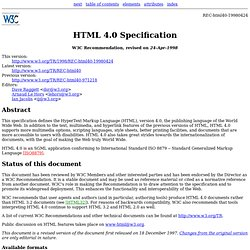 HTML 4.0 Specification