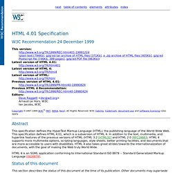 HTML 4.01 Specification