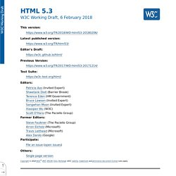 HTML 5.3: 4.2. Document metadata