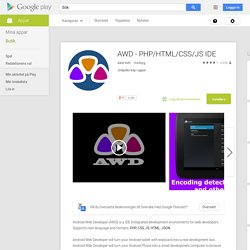AWD - PHP/HTML/CSS/JS IDE – Android-appar på Google Play