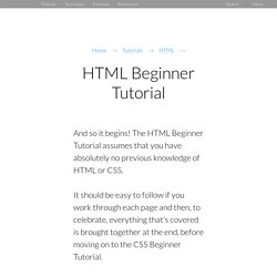 HTML Beginner Tutorial
