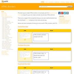 HTML Borders