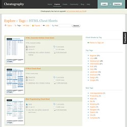 "Cheat Sheets Tagged with ""HTML"" - Cheatography.com - Aurora"