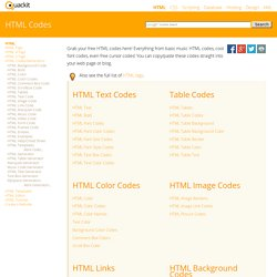 HTML Codes - Free