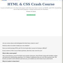 HTML & CSS Crash Course