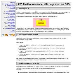 HTML et CSS : Positionnement