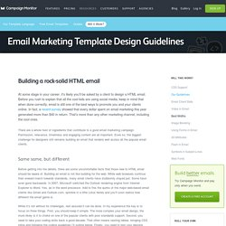 HTML Email Design Guidelines