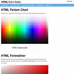 HTML Farbencodes