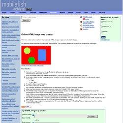 HTML image map creator