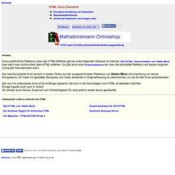 HTML - Kurs Übersicht