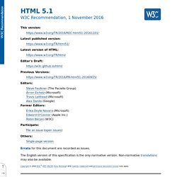 HTML: The Markup Language