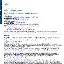 HTML Media Capture