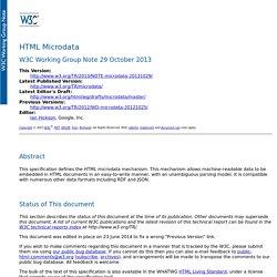 HTML Microdata