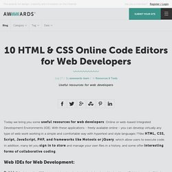 10 HTML & CSS Online Code Editors for Web Developers