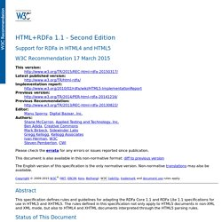 HTML+RDFa 1.1 - Second Edition