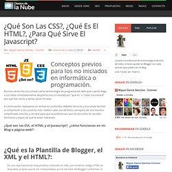 ¿Qué son las CSS?, ¿qué es el HTML?, ¿para qué sirve el Javascript? ~ Diarios de la nube