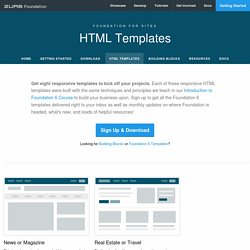 Foundation: HTML Templates