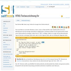 HTML/Textauszeichnung/br