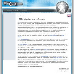 HTML code tutorials and reference